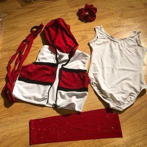 Red/ White dance costume
